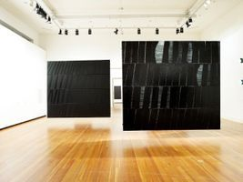 "View of the exhibition ""Pierre Soulages"" at Martin-Gropius Bau  Berlin (Germany), 2010 