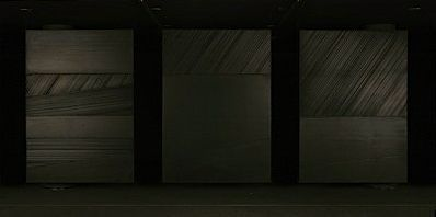 "View of the exhibition ""Pierre Soulages"" at Instituto Valenciano de Arte Moderno  Valencia (Spain), 2007 