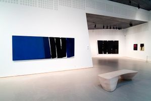 "View of the exhibition ""Pierre Soulages"" at Musée Ordrupgaard  Copenhagen (Danemark), 2005 
