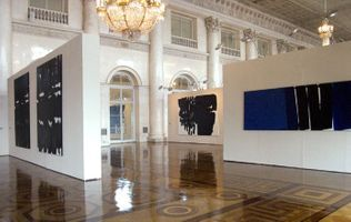 "View of the exhibition ""Lumière du noir"" at Hermitage Museum  Saint Petersburg (Saint Petersburg), 2001 