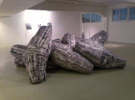 "展覽現場圖 ""Breakwater"" 於 Loushy Art & Projects  Tel-Aviv (Israël), 2014 