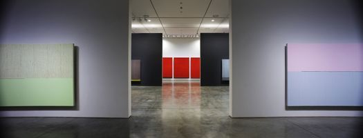 "View of the exhibition ""PARK Seo-Bo"" curated by Yongdae Kim  at Daegu Art Museum Daegu (South Korea), 2012 