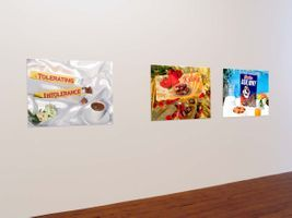 "View of the exhibition ""Operation Supermarket"" at The Counter Gallery  (with Shirin Aliabadi), 2006 