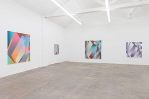 "展覽現場圖 ""Gunter Umberg Bernard Frize"" 於 Fondation Fernet Branca Saint Louis (France), 2015 | 博納德·弗瑞茲"