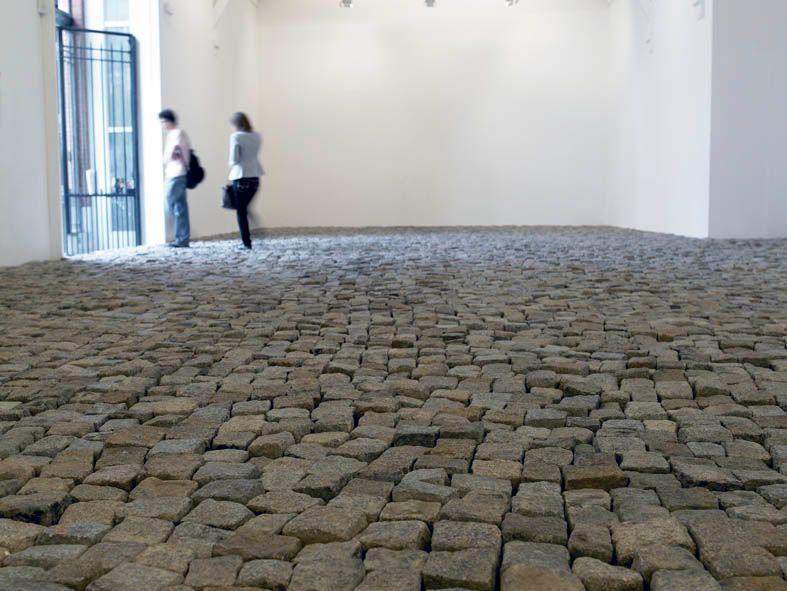 vue d'exposition à la Criée, Rennes