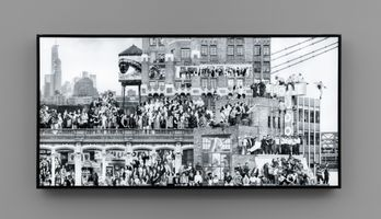 The Chronicles of New York City, Close up, Lightbox #1, USA   JR