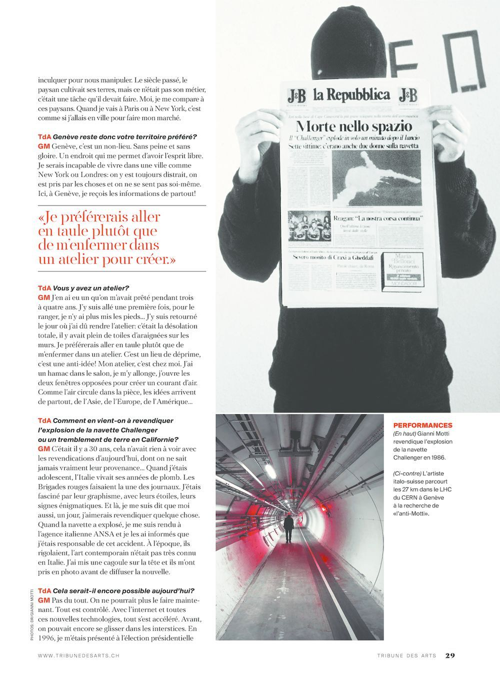 La Tribune des arts   Gianni MOTTI