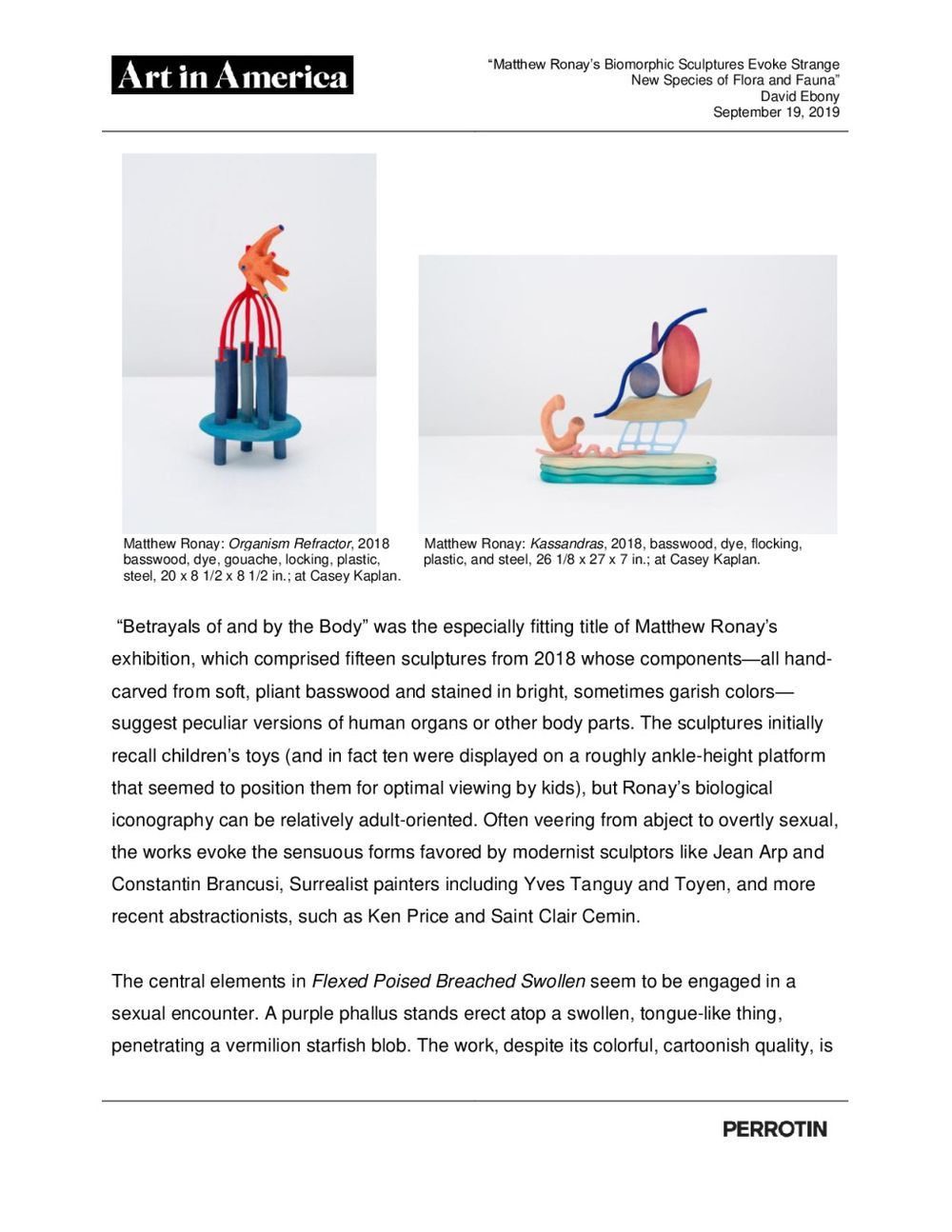Art in America | Matthew RONAY