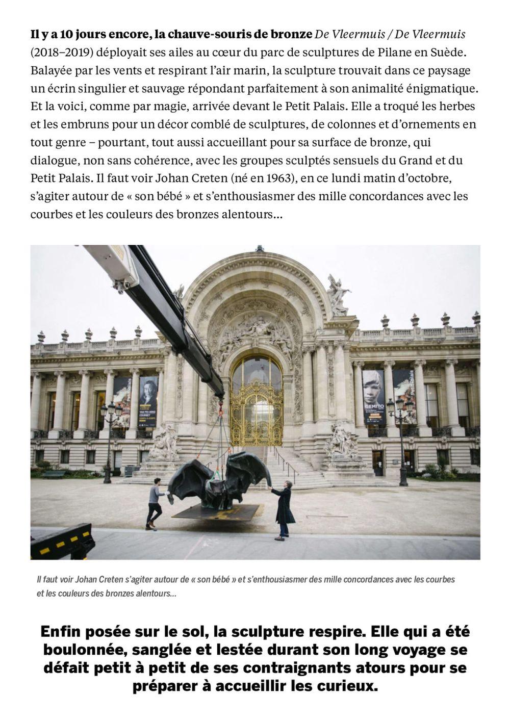 Beaux Arts Magazine | Johan CRETEN