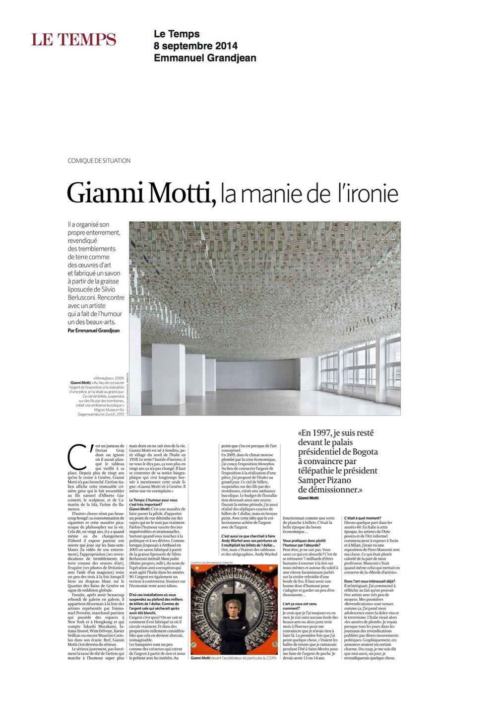 Le Temps | Gianni MOTTI