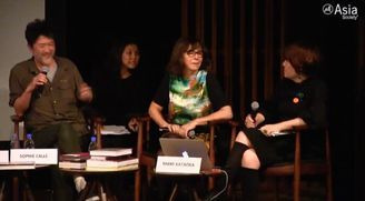 Evening Discussion with Artists SOPHIE CALLE, MAKOTO AIDA and MAMI KATAOKA, Chief Curator, Mori Art Museum at Asia Society Hong Kong Center, 27 Nov. 2014.