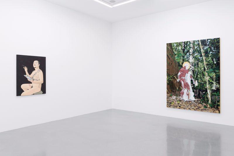 "View of Chen Fei's solo exhibition ""Fine Art"" at Perrotin, Paris, 2017."