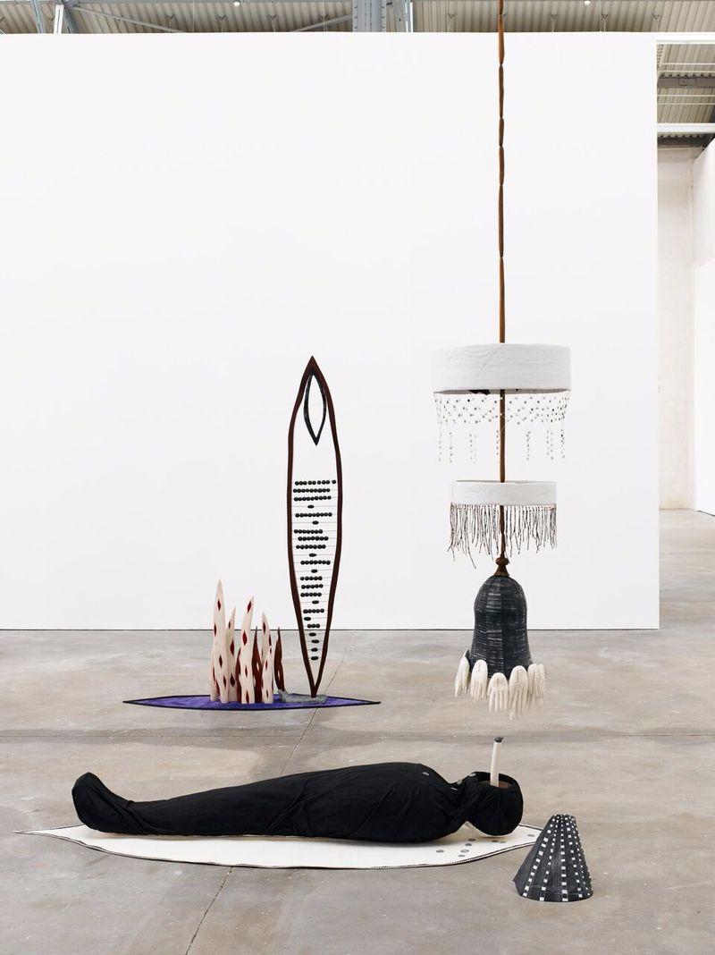"""Matthew_Ronay_View of the exhibition """"The Door is Open"""" at Kunsthalle Lingen  Lingen (Germany), 2014_14461"""