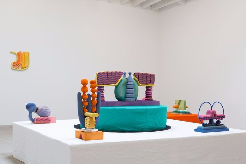 """Matthew_Ronay_View of the exhibition """"Surds"""" at MARC FOXX  LOS ANGELES (USA), 2017_14464"""