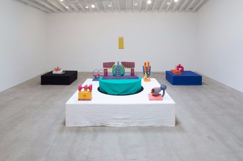 """Matthew_Ronay_View of the exhibition """"Surds"""" at MARC FOXX  LOS ANGELES (USA), 2017_14465"""