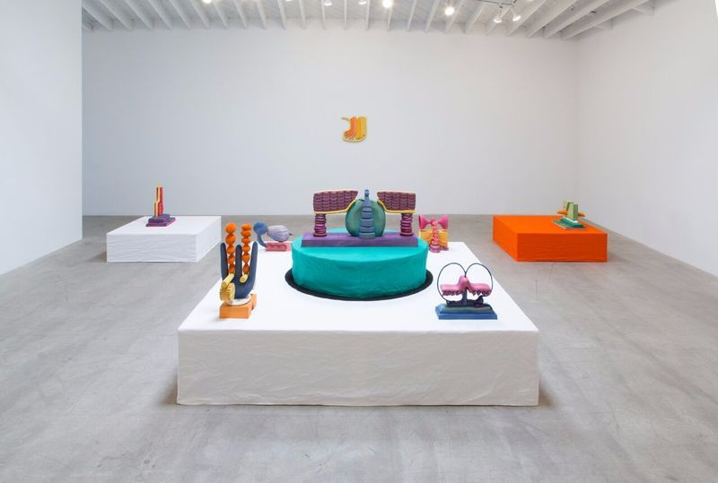 """Matthew_Ronay_View of the exhibition """"Surds"""" at MARC FOXX  LOS ANGELES (USA), 2017_14466"""