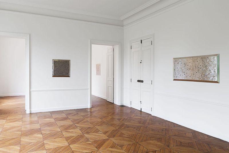 """Lionel_Esteve_View of the exhibition """"Lionel Estève à Sèvres """" at MANUFACTURE DE SEVRES  SEVRES (France), 2017_14680"""