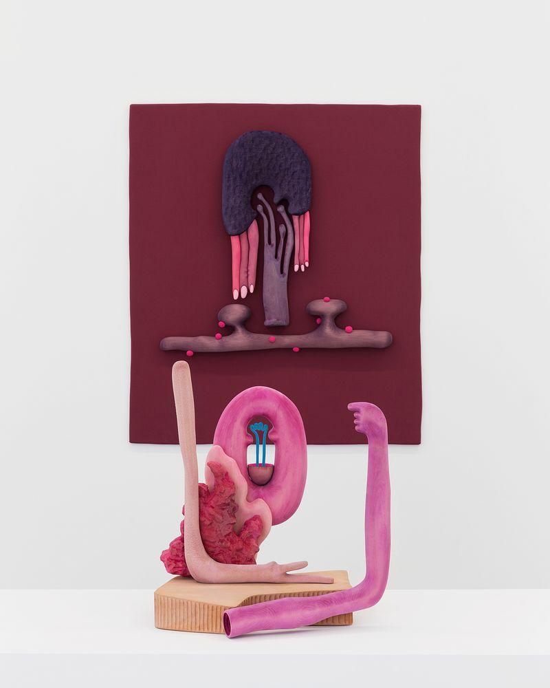 "Installation view: Matthew Ronay: ""Ramus,"" Perrotin, Paris, 2018"