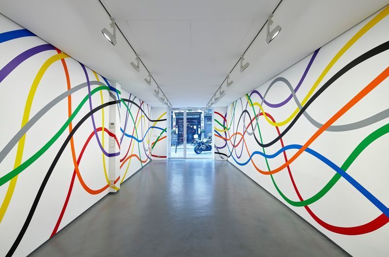 Wall Drawing #1183: Eight bands of color, 2005