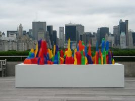 "Vue de l'exposition ""Sol LeWitt on the Roof: Splotches, Whirls and Twirls"" à Metropolitan Museum of Art  NEW YORK (USA)   Sol LeWitt"