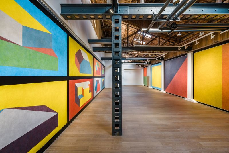 """View of the exhibition """"Sol LeWitt: Wall Drawings"""" at Shanghai Perrotin, 2019"""