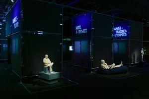 """View of the group exhibition """"Electro"""" at CITÉ DE LA MUSIQUE - PHILARMONIE DE PARIS  PARIS (France), 2019   Xavier VEILHAN"""