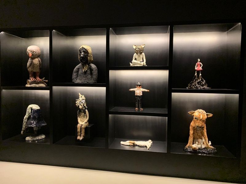 """Klara_Kristalova_View of the group exhibition """"Beyond the Vessel I Myths, Legends, and Fables in Contemporary Ceramics around Europe"""" curated by Catherine Milner  at Meşher  İstanbul (Turkey), 2019_21001"""