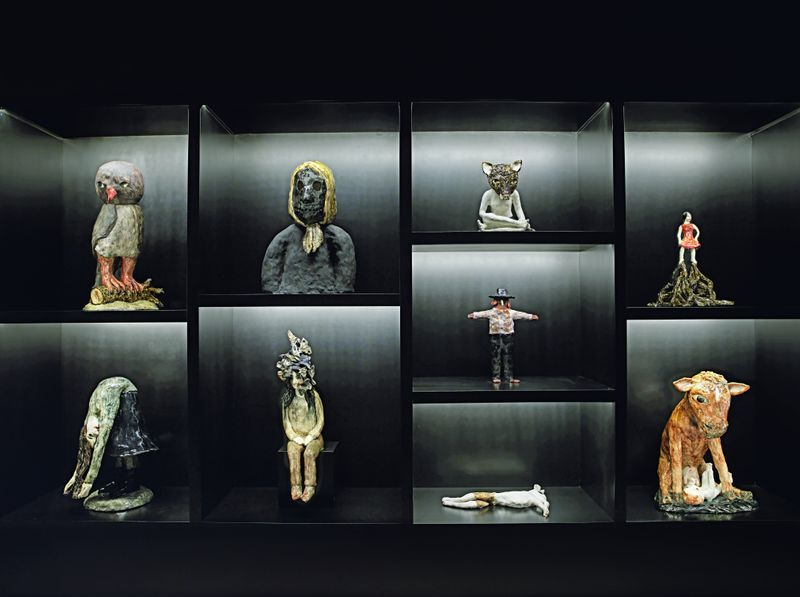 """Klara_Kristalova_View of the group exhibition """"Beyond the Vessel I Myths, Legends, and Fables in Contemporary Ceramics around Europe"""" curated by Catherine Milner  at Meşher  İstanbul (Turkey), 2019_21261"""