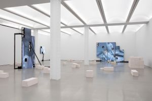 """View of the exhibition """"Jesper Just in conversation with Giuliana Bruno"""" at NEW YORK GALLERY  New York (USA) 