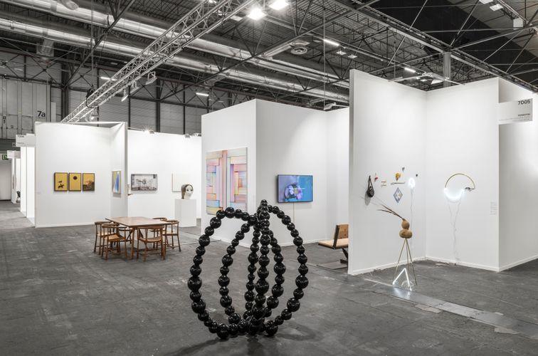 Works by Laurent Grasso, Hans Hartung, JR, Klara Kristalova, Bernard Frize, Jean-Michel Othoniel, Iván Argote, and Gabriel Rico (Photo: Roberto Ruiz)