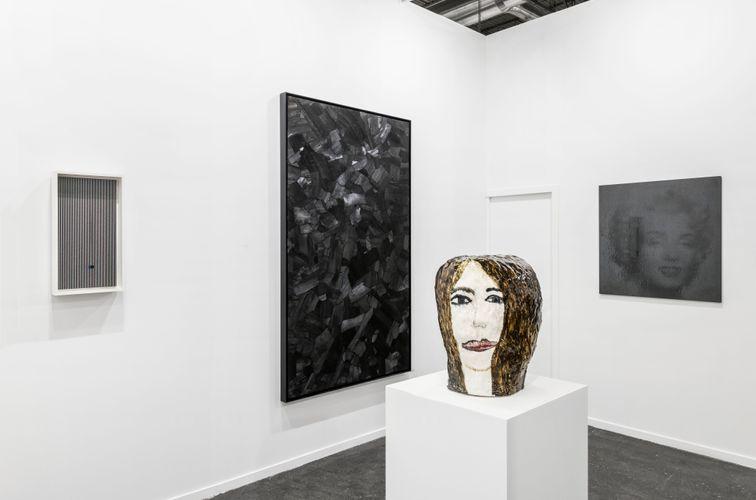 Works by Jesús Rafael Soto, Lee Bae, Klara Kristalova, and Gregor Hildebrandt (Photo: Roberto Ruiz)