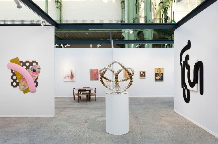 Works by Josh Sperling, Thilo Heinzmann, John Henderson, Jean Michel Othoniel, Claire Tabouret, Jens Fänge, Izumi Kato, and Iván Argote (Photo: Claire Dorn)