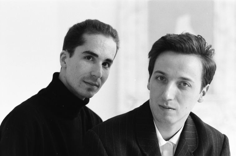 Hervé Mikaeloff and Emmanuel Perrotin, rue de l'Ancienne Comédie
