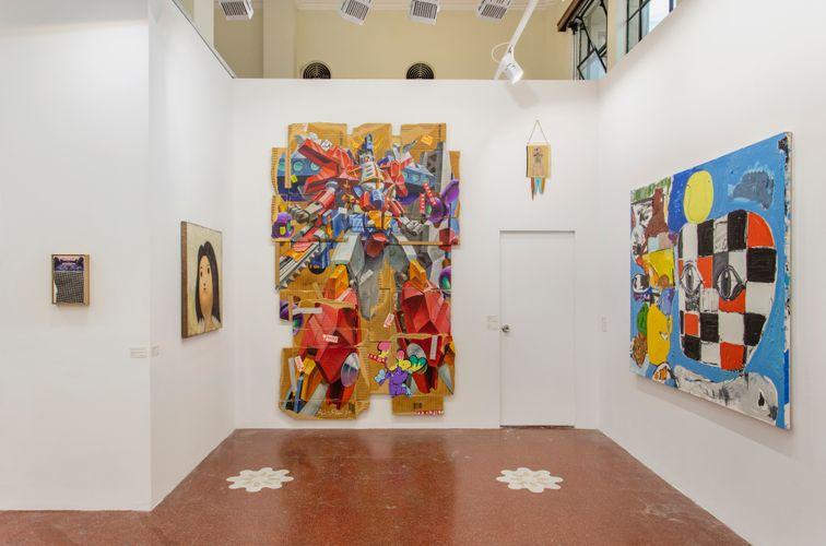 Works by JR, Otani Workshop, TENGAone, Izumi Kato, and Eddie Martinez