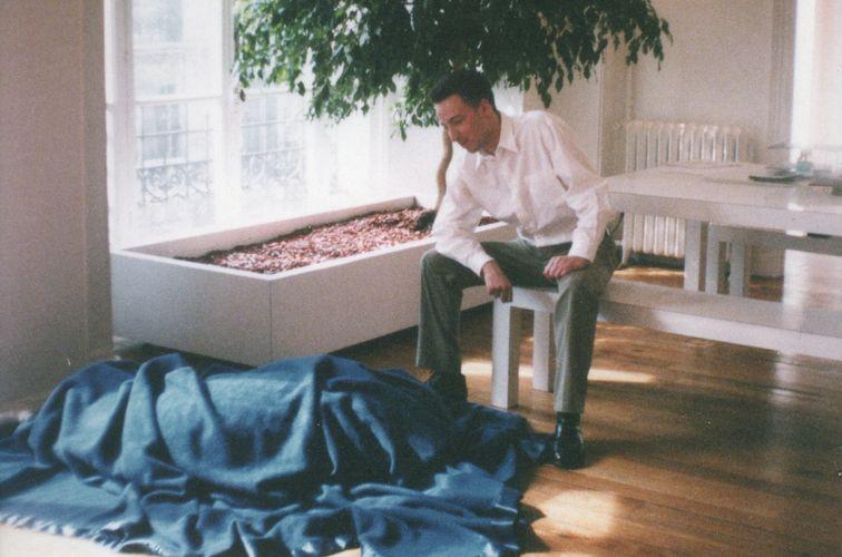 Emmanuel Perrotin in the gallery