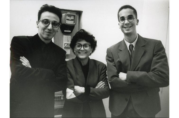 Emmanuel Perrotin, Marie-Hélène Montenay, and Hervé Mikaeloff, rue de l'Ancienne Comédie