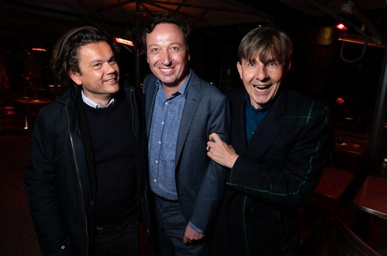 Jean-Michel Othoniel, Emmanuel Perrotin, and Johan Creten (Photo: Jean Picon / Say Who)