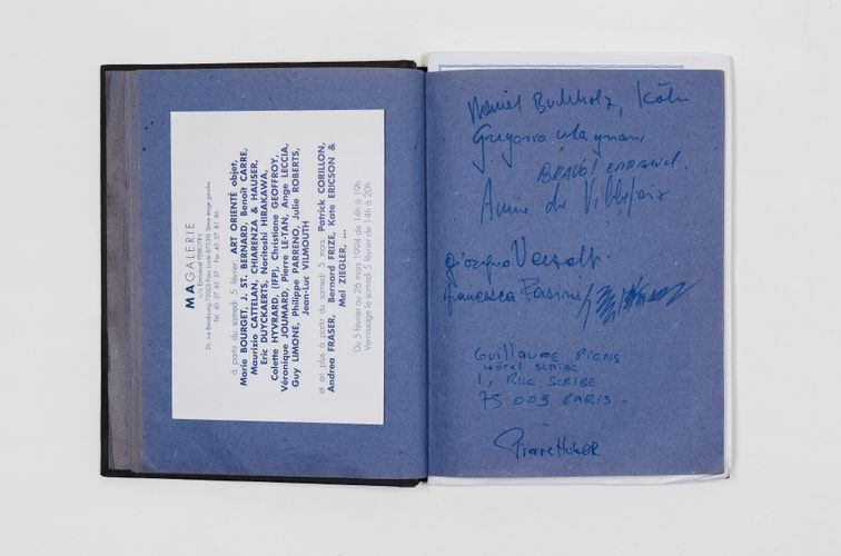Visitors' book for the exhibition