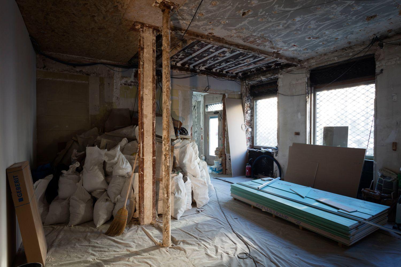 Renovation in progress (Photo : Claire Dorn)