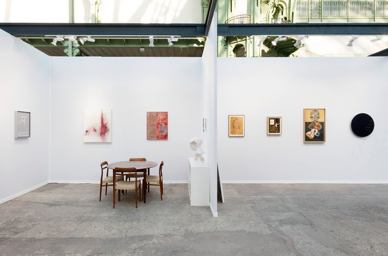 Works by Laurent Grasso, Thilo Heinzmann, Daniel Arsham, Claire Tabouret, Jens Fänge, Izumi Kato, and Xavier Veilhan (Photo: Claire Dorn)