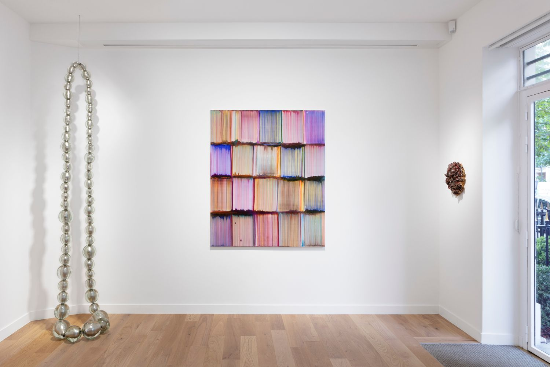 Works by Jean-Michel Othoniel, Bernard Frize, and Johan Creten (Photo : Tanguy Beurdeley)