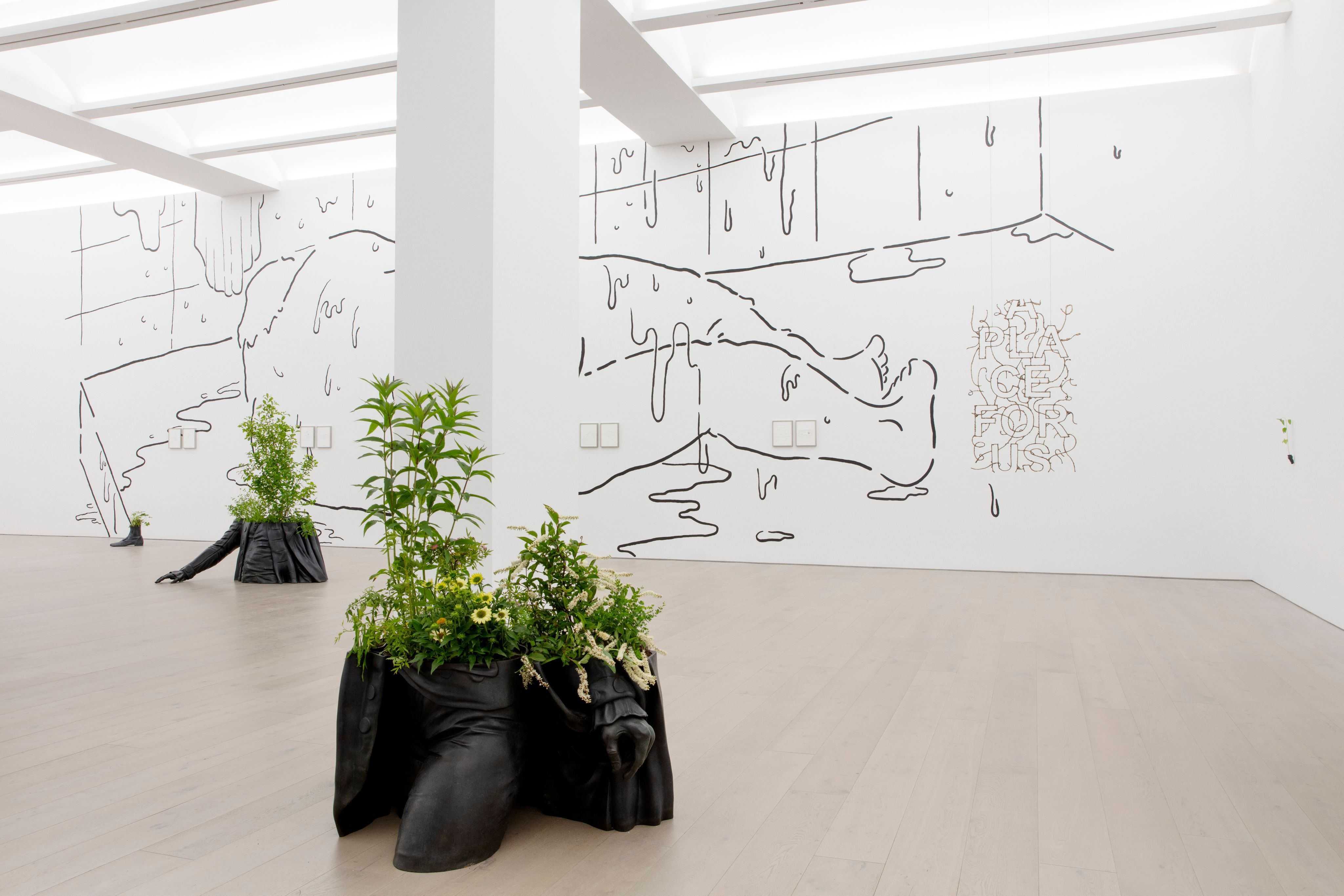 Installation View of Iván Argote: A Place For Us at Perrotin New York, 2021. Photographer: Guillaume Ziccarelli. Courtesy of the artist and Perrotin.