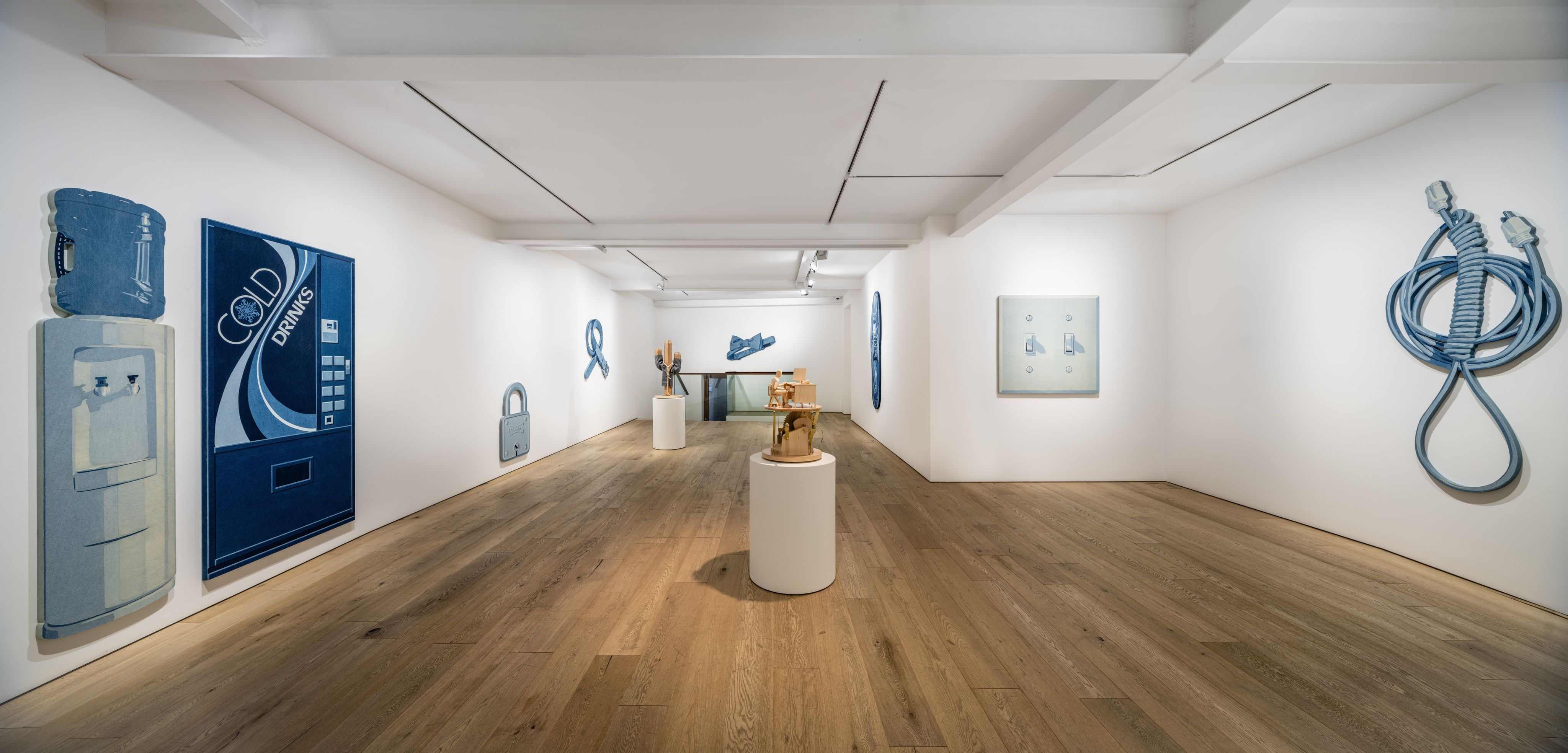 """View of the exhibition Nick Doyle """"Everything Is Fine"""" at Perrotin Seoul. Photo: Hyunjun Lee. Courtesy of the artist and Perrotin."""