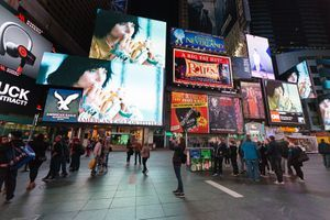 """View of the exhibition """"Midnight Moment in Times Square"""" curated by Times Square Arts and Performa  at Times Square  New York (USA), 2015 